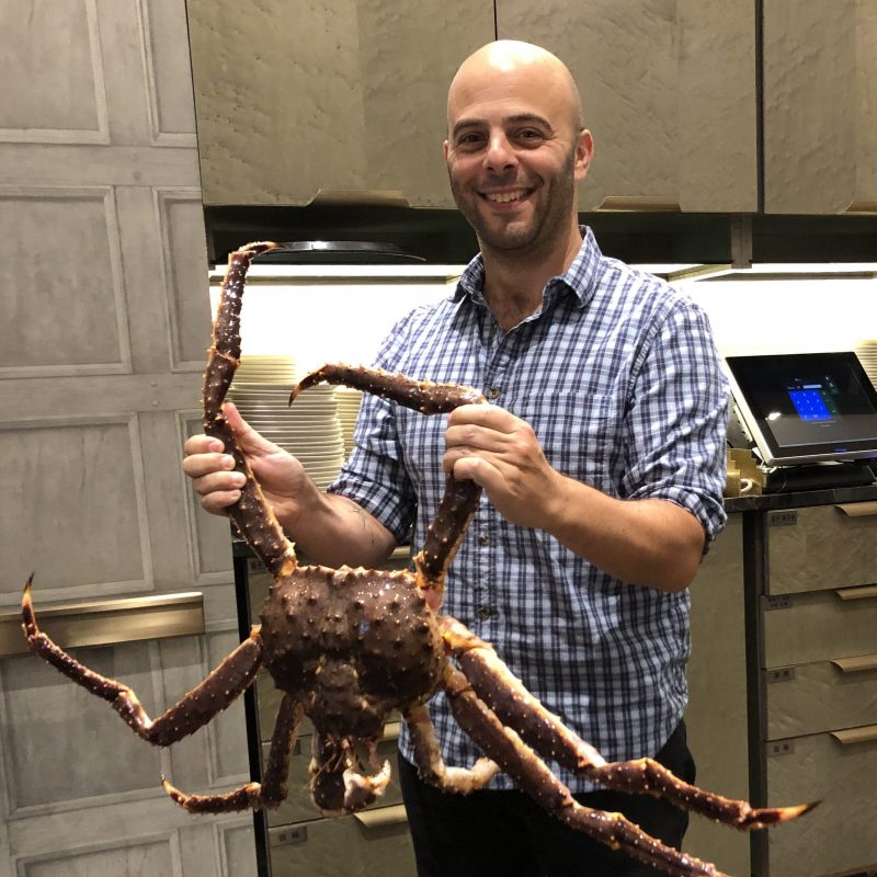 Alistair with crab